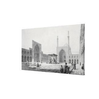 Great Friday Mosque (Masjid-i Djum-ah) in Isfahan, Canvas Print