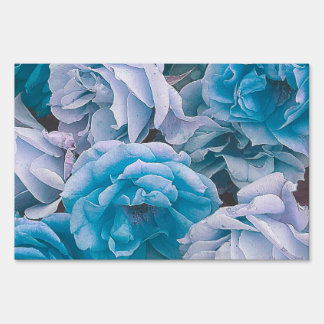 Great Garden roses,blue Lawn Signs