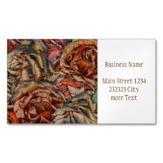Great garden roses magnetic business card