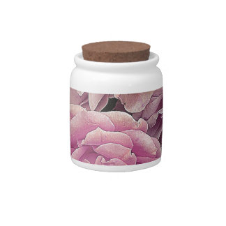 Great garden roses, pink candy jars