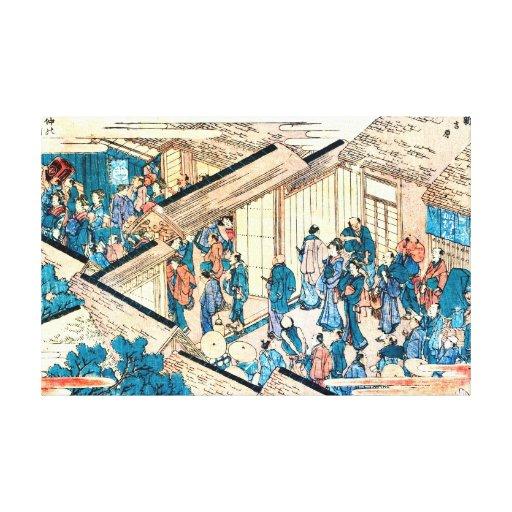Great Gate New Yoshiwara 1811 Canvas Print