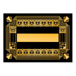Great Gatsby 1920s Art Deco Wedding Place Cards Large Business Card