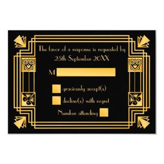 Great Gatsby 1920s Art Deco Wedding RSVP Card
