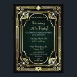 "Great Gatsby 30th Birthday Invitation<br><div class=""desc"">Throw a stunning Roaring 20"