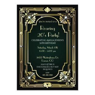 Great Gatsby 30th Birthday Invitation