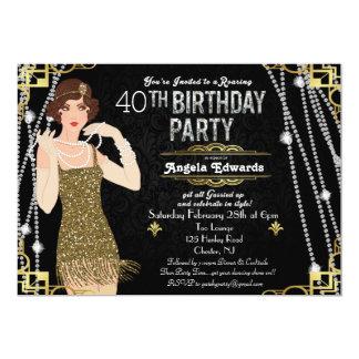 Great Gatsby Art Deco Birthday Invitation
