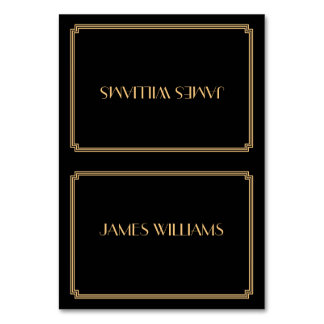 Great Gatsby Art Deco Black Place Setting Cards