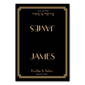 Great Gatsby Art Deco Black Wedding Place Cards