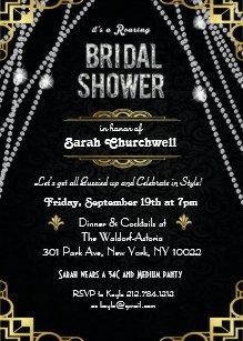 Art deco bridal shower invitations announcements zazzle great gatsby art deco bridal shower invitation filmwisefo Gallery