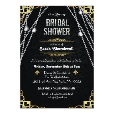 Great gatsby bridal shower invitation art deco zazzle filmwisefo Gallery
