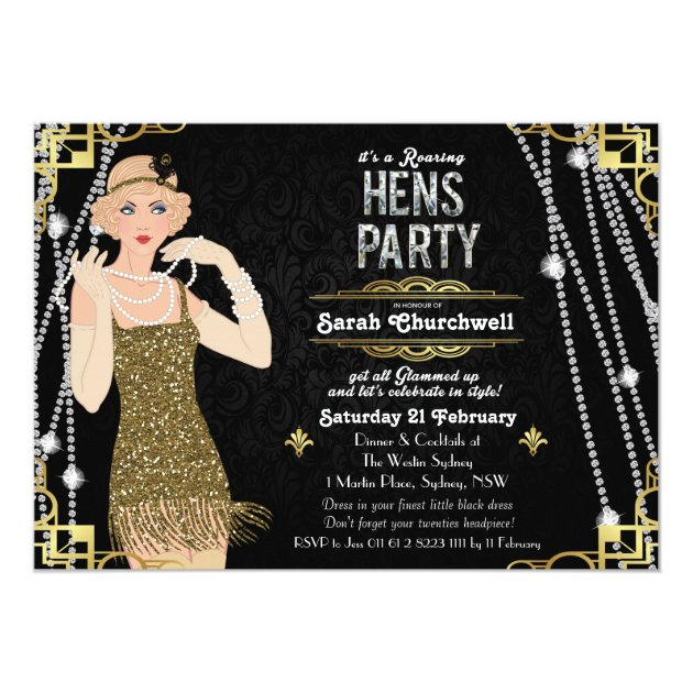 Personalized Flapper Invitations CustomInvitationsUcom - Party invitation template: great gatsby party invitation template free