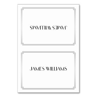 Great Gatsby Art Deco Silver Place Setting Cards