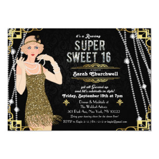 Great Gatsby Art Deco Swee 16 Birthday Invitation
