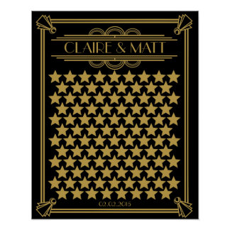 Great Gatsby Art Deco wedding signing guestbook