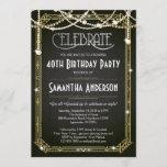 """Great Gatsby Birthday invitation / Art Deco invite<br><div class=""""desc"""">Great Gatsby Birthday invitation / Art Deco invite</div>"""