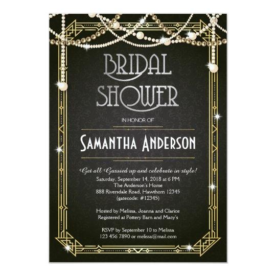 Great gatsby bridal shower invitation art deco zazzle great gatsby bridal shower invitation art deco filmwisefo Gallery
