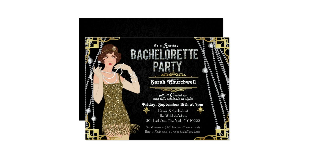 Great Gatsby Invitations Announcements – Great Party Invitations