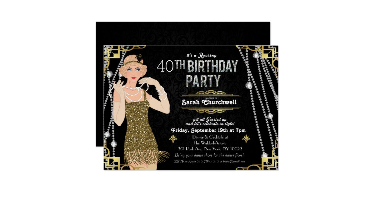 Great Gatsby Invitations & Announcements | Zazzle