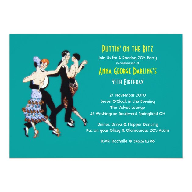 Personalized Great gatsby party Invitations CustomInvitations4Ucom