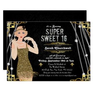 Great Gatsby Flapper Sweet 16 Birthday Invitation