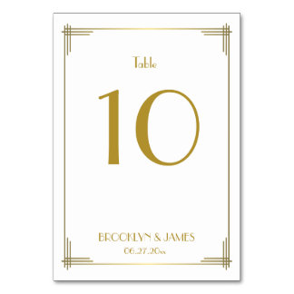 Great Gatsby Number Table Cards & Place Cards | Zazzle