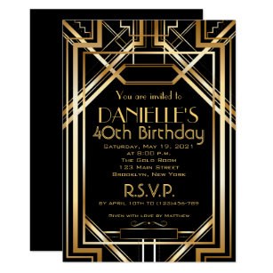 great gatsby invitations zazzle