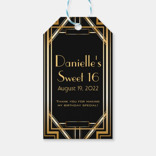 The Deco Haus Tagged Blue: Great Gatsby Inspired Art Deco Favor Tags