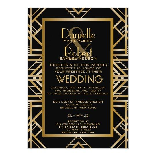 Great Gatsby Wedding Invites: Cardstock Inspired Honey Bee Wedding Invitation