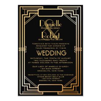 Lovely Great Gatsby Inspired Art Deco Wedding Invitation
