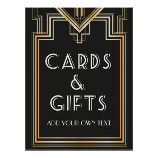 Great Gatsby Inspired Cards and gifts Signage Poster