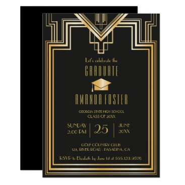Beach Themed Great Gatsby Inspired graduation Party Card