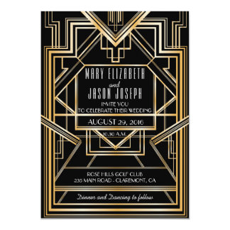 great gatsby inspired wedding invitation - Great Gatsby Wedding Invitations