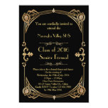Great Gatsby Prom invitation, art deco style Card