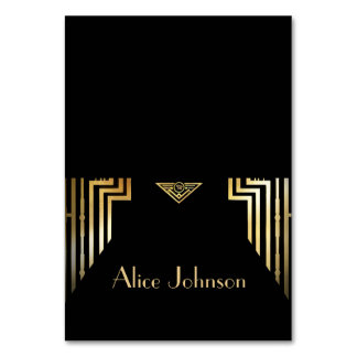 Great Gatsby Style Art Deco Place Card Tent Style