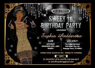 great gatsby party invitations zazzle