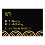 Great Gatsby Themed Wedding Reply Card