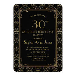 1920\'s Great Gatsby Art Deco Birthday Invitations - Retro Invites