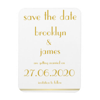 Great Gatsby Wedding Save The Date Magnets