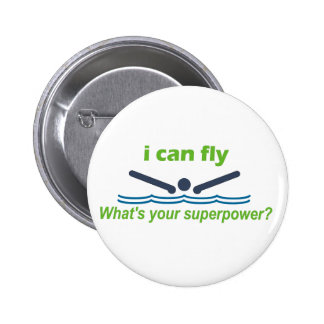 Great gift for the butterfly stroke swimmer! 2 inch round button