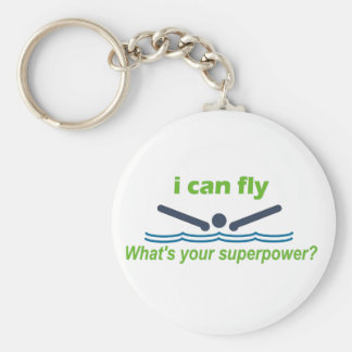 Great gift for the butterfly stroke swimmer! basic round button keychain
