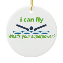 Great gift for the butterfly stroke swimmer! ceramic ornament