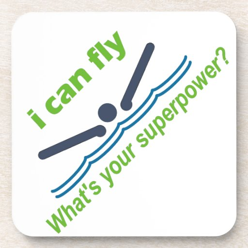 Great gift for the butterfly stroke swimmer! drink coaster