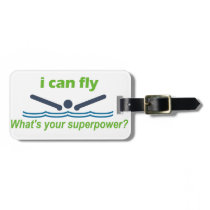 Great gift for the butterfly stroke swimmer! luggage tag