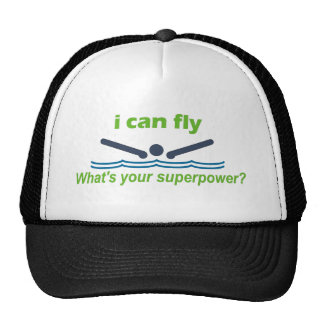 Great gift for the butterfly stroke swimmer! trucker hat