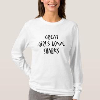 Great Girls Love Sharks T-Shirt