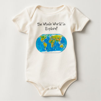Great global graphic! baby bodysuit