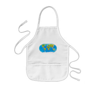 Great global graphic! kids' apron