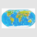 Great global graphic! rectangle stickers