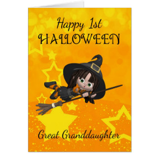 Great Granddaughter 1st Halloween With Cute Little Card
