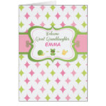 Great Granddaughter, Baby Welcome, Custom Personal Card
